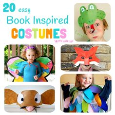 20 easy DIY Book Inspired Costumes perfect for dressing up on World Book Day or Children's Book Week and for the fancy dress box all year round.