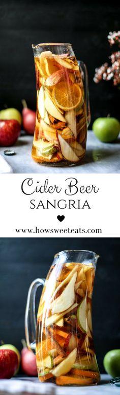 Cider Beer Sangria I howsweeteats.com @howsweeteats