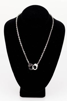 Siver Handcuff[ A1181]-$12.60  Polished silver handcuff necklace  OMGbebe.com Trend and New Vintage Clothing