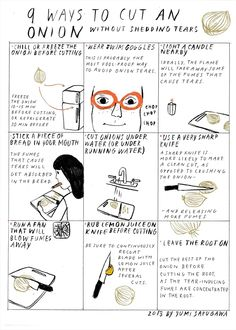Is it possible to cut onions in the kitchen without stinging eyes and looking like you just watched the saddest movie ever? Before we get to the answer, it's important to know why we tear up when cutting raw onions in the first place. When onions grow underground, they absorb the sulphur from the earth, which creates a class of volatile organic molecules called amino acid sulfoxides. Crushing the onion cells under the pressure of a knife releases the amino acid sulfoxides to form sulfenic…