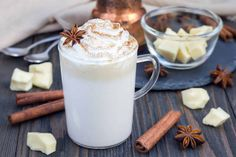 Hot White Chocolate - Makes 1 Serving Ingredients 1 packet SPLENDA® Flavors for Coffee, French Vanilla 2 tablespoons white chocolate chips 1/2 cup skim milk 1/2 cup fat-free half-and-half