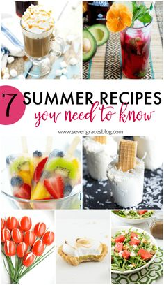 7 summer recipes you need to know to keep you cool! This roundup of fresh recipes is sure to be hit. Cool drinks, popsicles, fruit, veggies, and desserts!