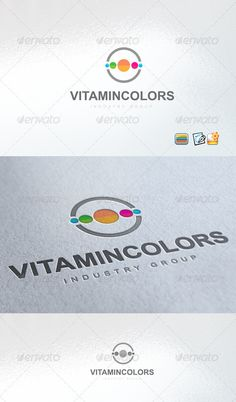Vitamin Colors Logo — Vector EPS #modern #vitamin • Available here → https://graphicriver.net/item/vitamin-colors-logo/3264499?ref=pxcr