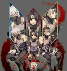 Kakashi, Itachi y Yamato ~ Anbu l. Best Anbu ever Hinata, Naruto Shippuden Anime, Anime Naruto, Manga Anime, Kakashi Hatake, Boruto, Geeks, Otaku, Gekkan Shoujo