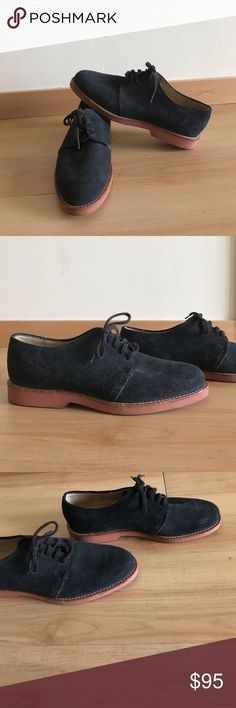 Cole Haan Women's Blue Suede Shoes Cole Haan Lace up shoes | Blue Suede | Made in Maine, USA | great condition - hardly worn | size 9 Cole Haan Shoes Flats & Loafers