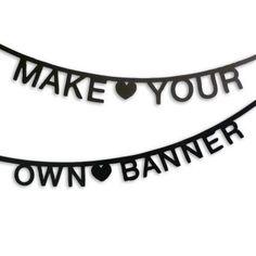 OMM Design Black DIY Word Banner