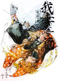 Kimetsu no Yaiba - Zenitsu Agatsuma Couple Anime Manga, Manga Anime, Anime Oc, Fanarts Anime, Anime Demon, Otaku Anime, Demon Slayer, Slayer Anime, Zenitsu Kimetsu No Yaiba
