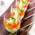 Delhaize - Verrines au saumon fumé et à la pomme verte