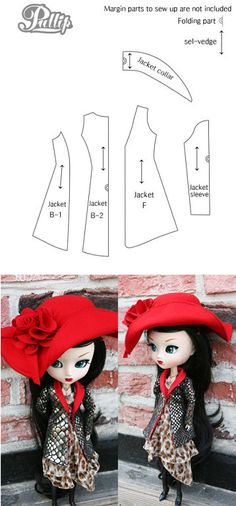 patrones de ropa de barbie   Aprender manualidades es facilisimo.com