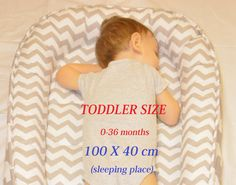 FOR TODDLER! Double-sided babynest,Baby nest,Baby lounger,Baby positoner,baby sleep nest,sleep bed,co sleeper
