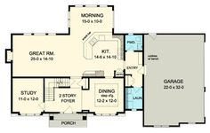 Traditional House Plan 54105 Level One