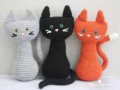 Free crochet pattern: Crochet Cat amigurumi by Repeat Crafter Me Crochet Cat Pattern, Bag Crochet, Crochet Toys Patterns, Cute Crochet, Amigurumi Patterns, Crochet Crafts, Crochet Dolls, Crochet Yarn, Crochet Projects