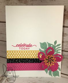 Celebrate Today | Stampin' Up! | Enjoy the Little Things | Botanical Blooms…