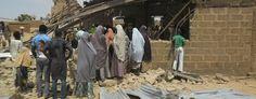 The Redeem Christian church in Potiskum, Nigeria, on July 5. The church had been struck by a suicide bomber. (Adamu Adamu/AP)