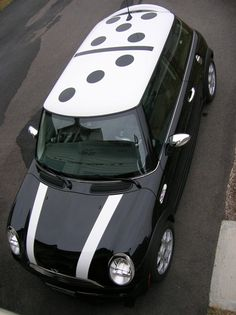 MINI Madness - Domino Style Mini Cooper ♥ App for your MINI http://Carwarninglight.com