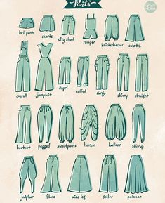 Fashion Design Sketches 614600680381154693 - From 100 Tuesday Tips volume some of the different type of pants. I personally love culotte and harem pants. Source by Drawing Techniques, Drawing Tips, Drawing Sketches, Drawing Drawing, Drawing Poses, Drawing Ideas, Sketching, Fashion Design Drawings, Fashion Sketches
