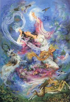 Persian miniature by Mahmoud Farshchian