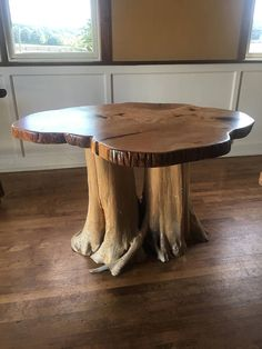 Live Edge Curly Maple Coffee Table - Free Shipping!