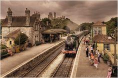 Corfe Castle Railway Station   Flickr - Photo Sharing!