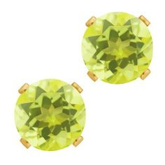 2.40 Ct Round Shape Yellow Lemon Quartz Yellow Gold Plated Silver Stud Earrings Gem Stone King. $14.99. This Item Contains 100% Natural Stones. This item is proudly custom made in the USA