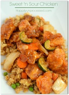 SWEET AND SOUR CHICKEN HappilyUnprocessed.com Top 5 recipe in our house !!!!!  a MUST try