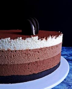 Mousse torta: csoki hátán csoki - Mom With Five Tiramisu, Mousse, Tart, Food And Drink, Sweets, Baking, Drinks, Oreo, Health