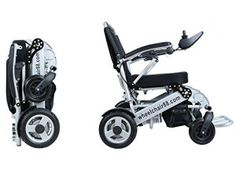 Stylish heavy duty Foldawheel with a thick & tuff Travel Bag. Electric power motorized Wheelchair foldable in amazing 2 seconds. Only 55 lbs with Polymer Li-ion Battery. Portable Wheelchair, Powered Wheelchair, Mobility Aids, Mobility Scooters, Best Electric Pressure Cooker, Aesthetic Bags, Wheelchair Accessories, Scooter Design, Best Amazon Products