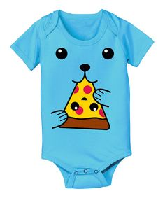 Look at this Turquoise Dog Face Pizza Bodysuit - Infant on #zulily today!