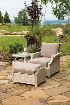 Fully Outdoor Hamptons Lounge Chair By Lloyd Flanders Perfect For Patio Porch Or Sunroom