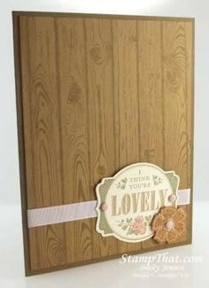 Stampin' Up! You're Lovely Free stamp set