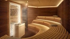 Spa Interior Design, Baths Interior, Home Spa Room, Spa Rooms, Sauna Steam Room, Sauna Room, Lofts, Sauna Lights, Modern Saunas