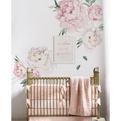 Free Shipping. Buy Peony Flowers Wall Sticker - Vintage Pink at Walmart.com