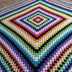 Crochet Traditional granny square pattern using Caron Simply Soft Yarn- no pattern