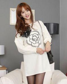 TC000279 Beautiful bow dress Korean style fashion hoodie