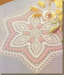 Pretty In Pink Doily: diagram