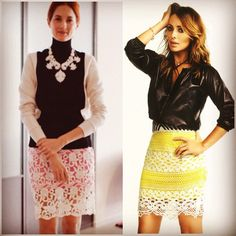 lace skirts + neon lining = hot.