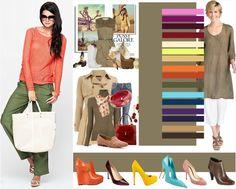 Сочетание цвета хаки в одежде с другими тонами