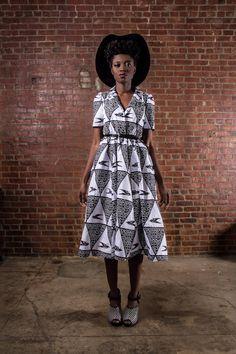 NOUVEAU la robeAfrican Portia imprimer 100 par DemestiksNewYork, $165.00