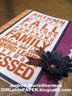 GIRLplusPAPER: CTMH Poster Tidings - Fall Card