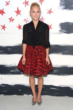Anna Sophia Robb of The Carrie Diaries at the Alice + Olivia By Stacey Bendet Spring 2012 show at NYFW