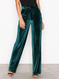 349 Wide Dressed Velvet Pants