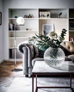 Saying good night with this classic vase from @svenskttenn - Floor lamp from @flosscandinavia - Sneak peak from upcoming listing at Birger Jarlsgatan via @joehed and @alexanderwhitesthlm
