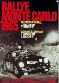 PORSCHE, racing poster Monte-Carlo smaller flaws at upper edge and smaller creases at the side, study. on Nov 2012 Porsche 904, Porsche 911 Classic, Porsche Motorsport, Porsche Cars, Poster Ads, Car Posters, Graphic Posters, Audi, Vintage Porsche