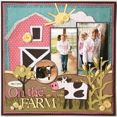 tractor scrapbook layout - Google Search