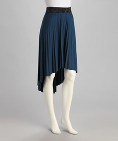 Take a look at this Blue Hi-Low Skirt by jon & anna on #zulily today!
