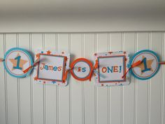 Baby's First Birthday Banner for Highchair  by PoshPaperPartiesCo