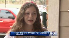 Teenage Girl Issues Parking Ticket To Cop... What He Did Next Will Warm Your Heart!
