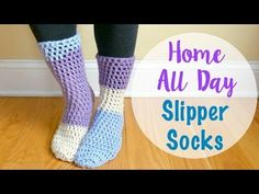 Fiber Flux: Free Crochet Pattern...Home All Day Slipper Socks!