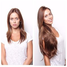 Before and after BELLAMI Hair! Our model is wearing Magnifica 240 gram 24  inches in b90275b4b