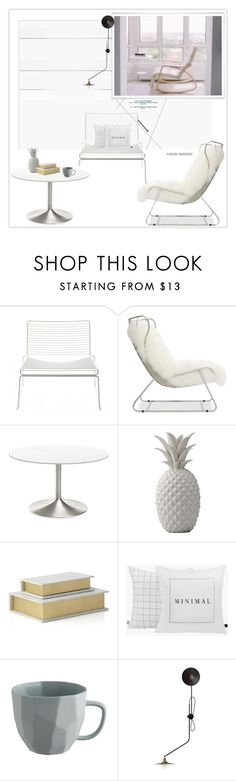 """""""Modern Apartment"""" by rainie-minnie ❤ liked on Polyvore featuring interior, interiors, interior design, home, home decor, interior decorating, HAY, Mitchell Gold + Bob Williams, Bloomingville and Workstead"""